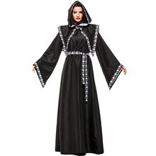 Umorden Adult Unisex Scary Death Grim Reaper Costume Wizard Sorceress Costumes for Women Crypt Keeper Men