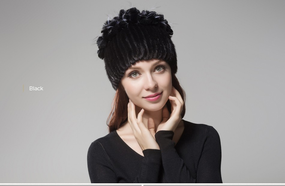 mink fur hats female winter PCM016 (23)