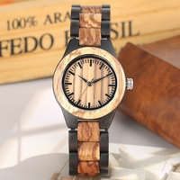 Female Mixed Wood Watch Quartz Watches Full Adjustable Wood Band Sports Fashion Casual Women Clock Hour Top Brand Luxury reloj