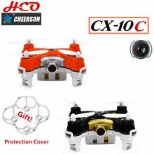 Cheerson CX-10C Mini Drone 2.4G 4CH 6 Axis Gyro RC CX10C Quadcopter Drone con Cámara de Control Remoto Que Vuelan Juguetes para niños