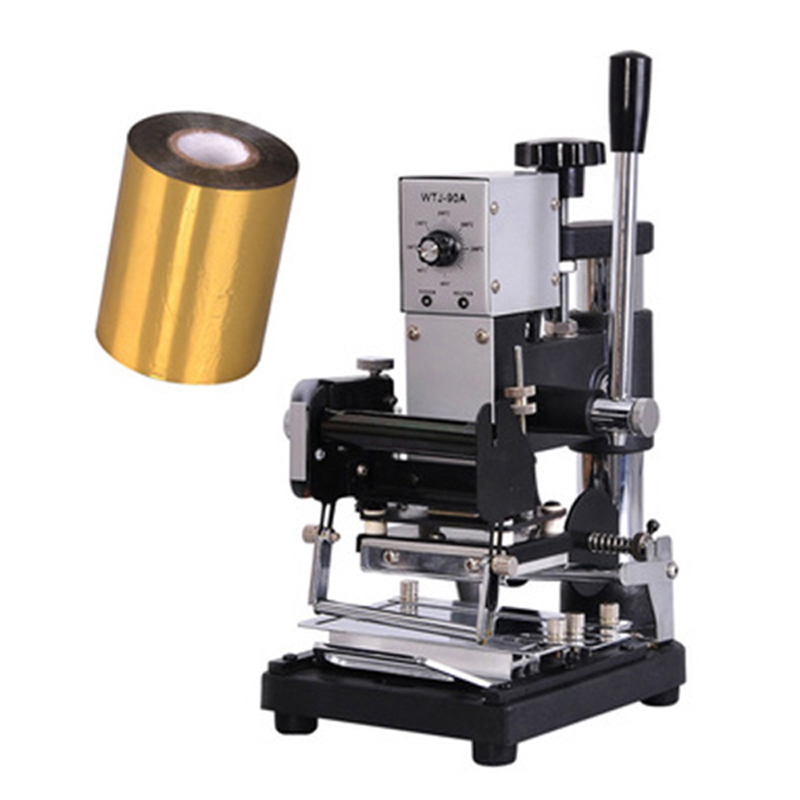 Manual Hot Foil Stamping Machine for leather Creasing machine marking press embossing machine for Gilding press a4 size manual flat paper press machine for photo books invoices checks booklets nipping machine
