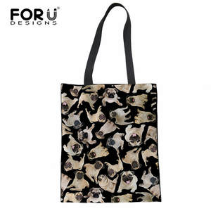 7f278f88c7 FORUDESIGNS Women Reusable Cotton Shopping Bags Tote Bags