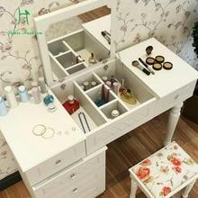 Многофункциональный белый туалетный столик для маленькой семьи в спальню, Мини-Платье С Откидывающейся Крышкой