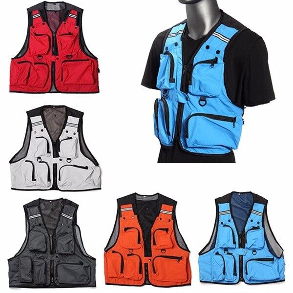 Elegant Sleeveless Utility Multi Pocket Zip Hunting Fishing Shooting Fly Mesh Vest Ys-buy Durable Modeling Fishing Apparel