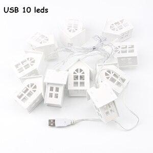 Image 5 - 2M 10pcs LED USB/סוללה כוח חג המולד עץ בית סגנון פיות אור Led מחרוזת לידה חתונת זר חדש שנה דקור עבור בית