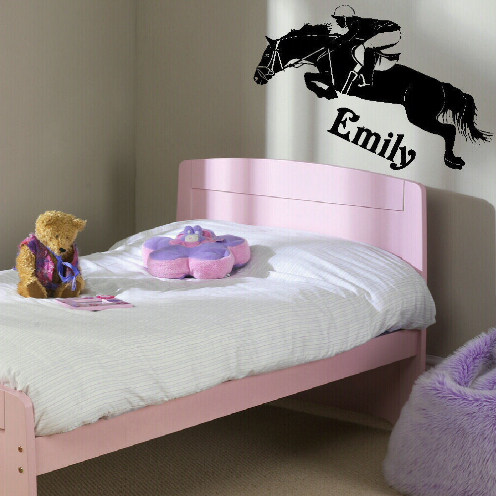 popular childrens wall murals buy cheap childrens wall murals lots d316 large personalised horse childrens bedroom wall mural giant art sticker vinyl decal for living room