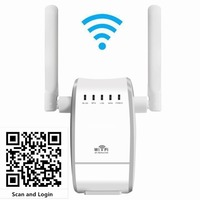 300Mbps Wireless WiFi Repeater Range Extender Booster EU Plug 2x Antennas