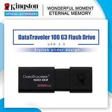 Kingston unidades Flash USB 8GB 16GB 32GB 64GB 128GB USB 3,0 Pen Drive de alta velocidad dispositivos DT100G3(China)