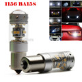 2Pieces 28-SMD 5W Chips 140W Super Bright Car Auto Turn Signal LED BA15S P21W 1156 CANBUS Day Light White Bulb DRL Lamp