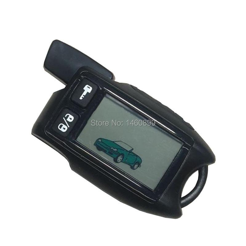 TW-9 5 LCD Remote Control Key Fob for Russian Tomahawk 9 5 two way car alarm system Tomahawk 9 9 Fob Chain Keychain
