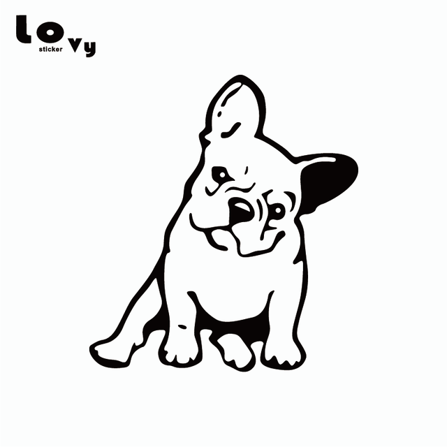 French Bulldog Vinyl Car Sticker Creative Cartoon Dog Vinyl Car
