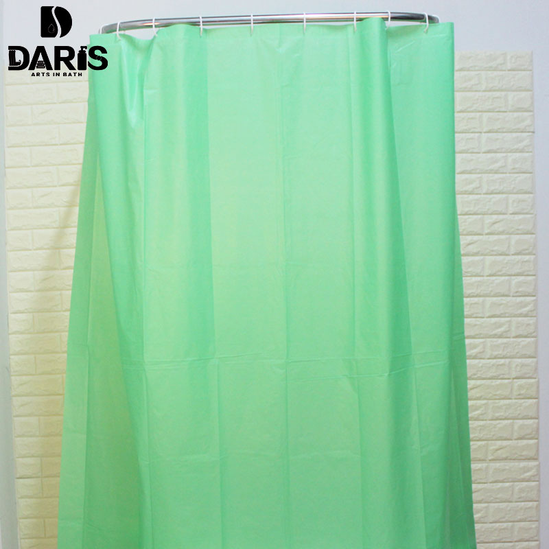Sdarisbs plain plastic polyester shower curtain bathroom Colorful shower curtains