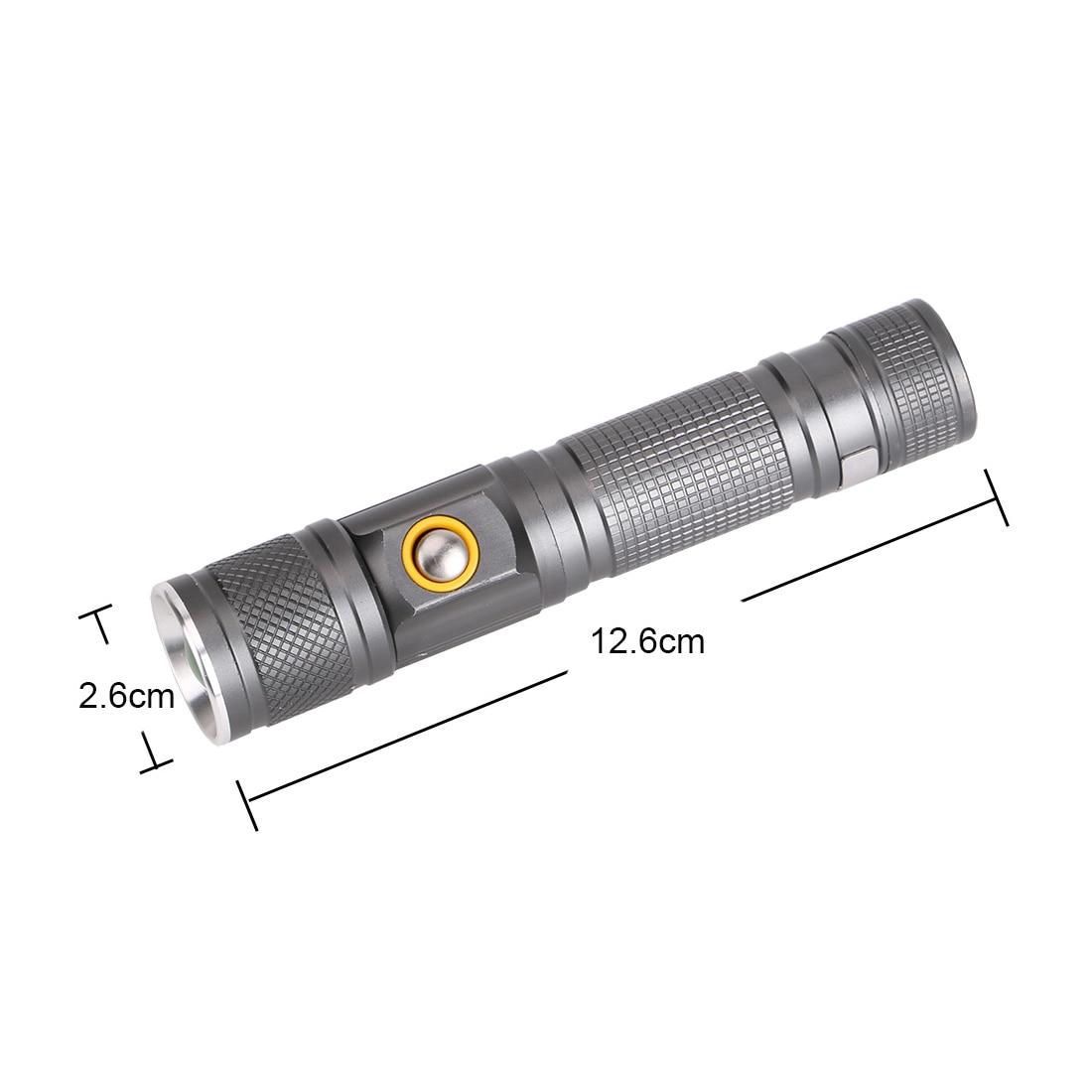 Rechargeable Waterproof Flash Light 1pcs Portable Light Flashlight Xml-T6 Led Torch