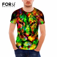 FORUDESIGNS Cool 3D Eagle Tiger Animal Men's T -shirt Summer Short Sleeved Bodybuilding Man T Shirt Male Boys Tees Tops Shirts