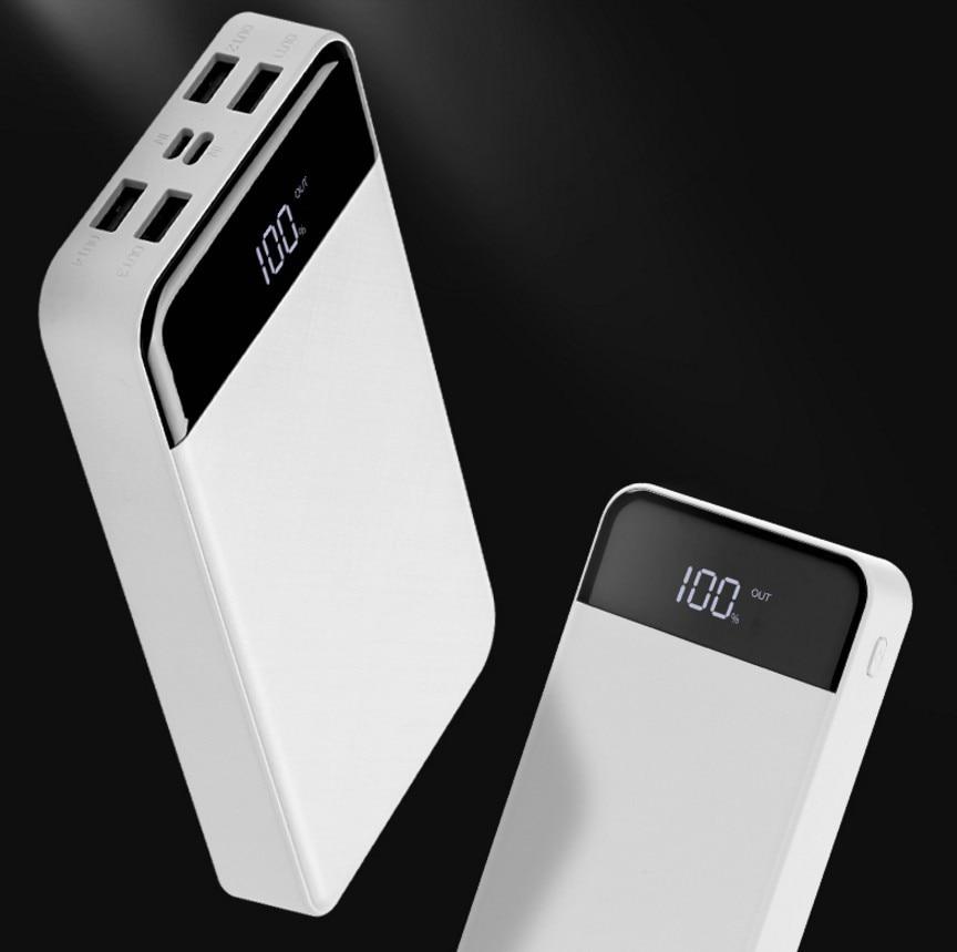 20000 mAh batterie externe 4USB puissance mobile LCD affichage numérique charge trésor type-c puissance mobile pour xiaomi pour iphone 6/7/8 plus - 5