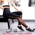 Entrenamiento ropa de entrenamiento para las mujeres de fitness femenino legging Legging elaborar prendas de vestir de cintura alta negro de malla de empalme pantalones de chándal 757