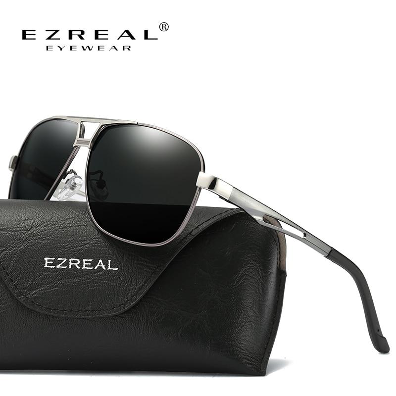 EZREAL النظارات الشمسية الرجال الاستقطاب النظارات خمر القيادة مرآة نظارات الشمس للنساء Gafas ذكر الأشعة فوق البنفسجية 400 نظارات اكسسوارات 8521