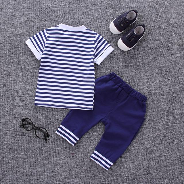 Boys Summer Casual Short Sleeve Set
