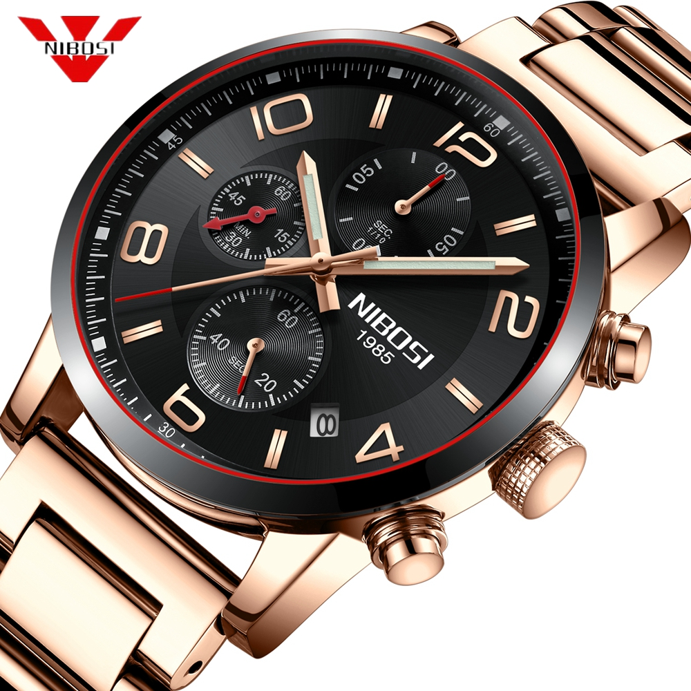 NIBOSI Watch Men Luxury Brand Men Army Military Watches Men's Quartz Clock Man Sports Wrist Watch Relogio Masculino Wristwatch 2018 new luxury brand weide men sports watches fashion men s quartz led clock man army military wrist watch relogio masculino