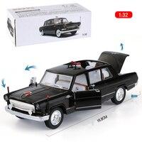Shenghui 1:32 Red Flag jian yue che Alloy Car Model Back Acousto Optic Toy Car Simulation Metal 833 Boxed