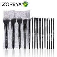 ZOREYA 15pcs Makeup Brushes Make Up Brushes Powder Eyebrow Foundation Blush Cosmetic Kits Pincel Maquiagem Professional