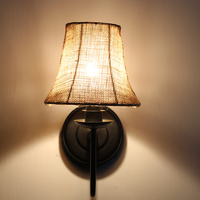 Road lighting can be simple European style Tieyi cloth cover rural North aisle pastoral style bedroom study room wall
