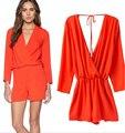 2015 Женская мода спинки Ремень Комбинезоны Брюки Комбинезон Шорты комбинезон женские комбинезон комбинезон для женщин пляжная одежда