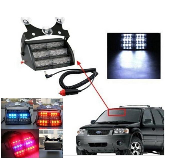 18-LED Flashing Strobe Lamps Bulbs Red Blue Yellow Car Vehicle Auto Truck Warning Light Emergency 3 Flash Modes Warn Lights