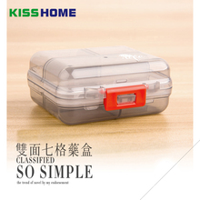 7 Girds Mini Medical Kit Travel Double Layer Separate Pills Case One Week Protable Medicine Capsule Earrings Small Storage Box