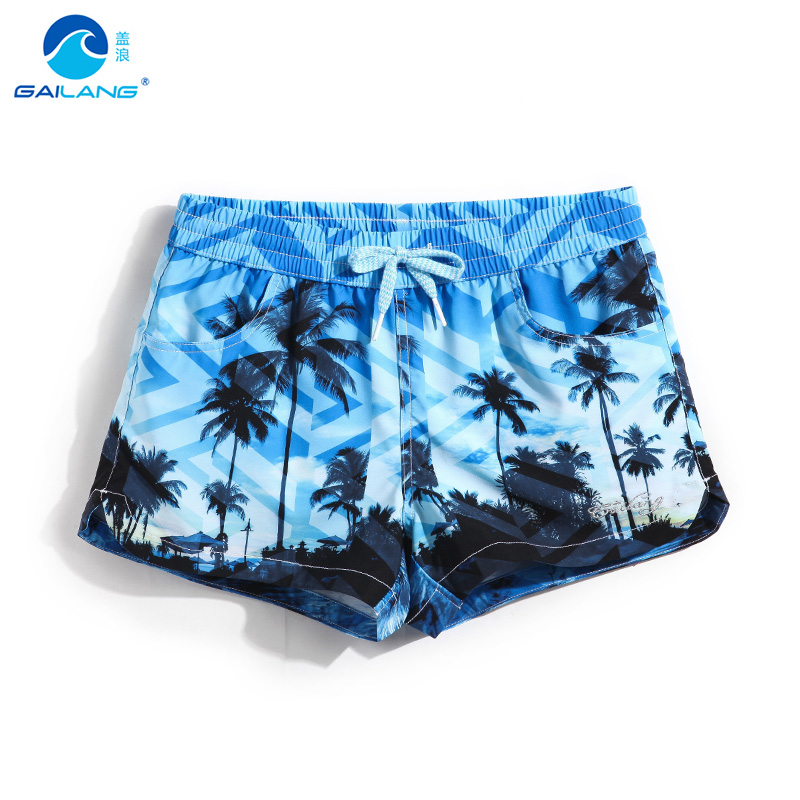 Womens swim   board     shorts   bathing suit quick dry joggers swimwear hawaiian beach mesh   shorts   printed breathable printed