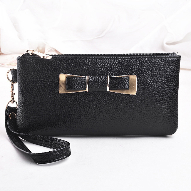 Women Purses Bags Wristlet Zipper Clutch Handbags Wallets Lady Keys Phone Coin Purse PU Leather Girls Bow Money Bag Burse Wallet fashion women coin purses dots design mini girl wallet triple zipper clutch bag card case small lady bags phone pouch purse new