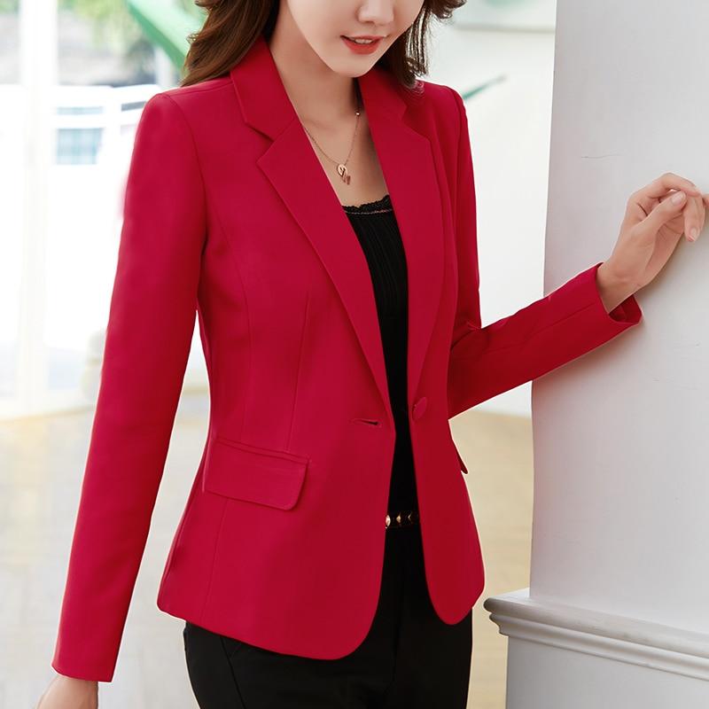 Women's Blazer Autumn New Korean Slim Short White Long Sleeve Commuter Dress Big Red Top Small Suit Women's Jacket
