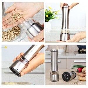 Image 5 - 2 pçs/lote Manual de Aço Inoxidável Moedor de Pimenta Moinho de Pimenta Sal de Cozinha Eco Ferramentas Moinho De Cozinha Cozinhar ferramentas de Moagem