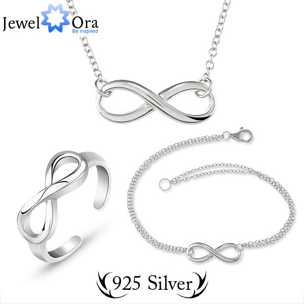 Genuine 925 Set Fine Sterling Silver Jewelry