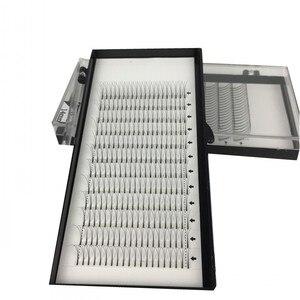 Image 2 - Long Stem Hotsale 3 Trays/lot 3D 5D Premade Fans Grafting Volume Fake Mink Eyelashes False Clusters 9 15mm 3D Mink