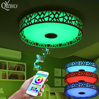 Ceiling Lights Lustre LED Ceiling Lamp Light Luminaria Abajur RGB Dimmable With Bluetooth Music Lustre Luminaire