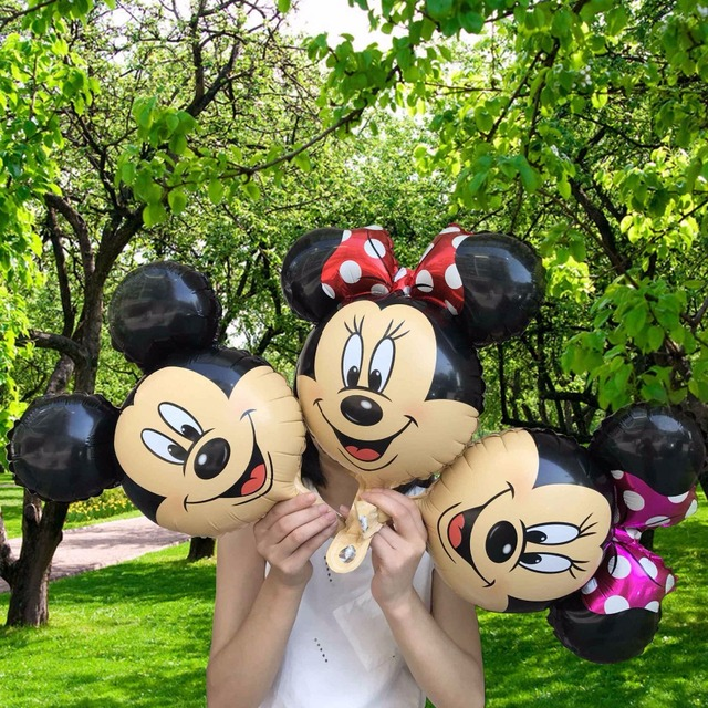 50pcs Cute Mini Size Minnie Mickey Foil balloons for party theme foil globos kids toys birthday party decor