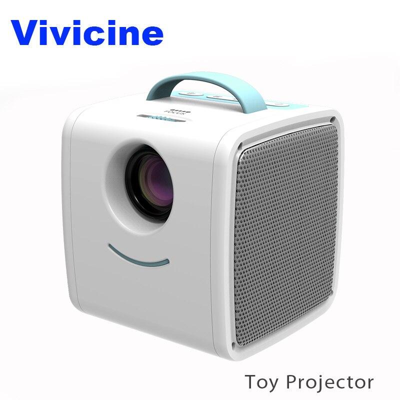 92d95307cc6 VIVICINE Q2 bolsillo Mini proyector Led de navidad regalo HDMI USB AV juego  Video proyector Beamer regalo perfecto para los niños