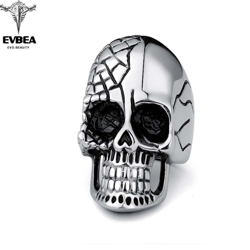 Black Friday Tattoo Hip Hop Rock Silver Punk Skull Big Adjustable Bikers Motorcycle Rings Mens & Boys Jewelry