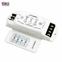 BC 311RF DC 12V 24V LED Dimmer 8A*3CH RF remote Wireless Controller PWM dimmer For 5050 5630 single color led strip light tape