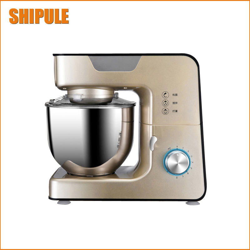 5.5L stainless steel bowl Kitchen 8 Speed Electric dough mixer Tilt Head and Cooking Chef blender Machine
