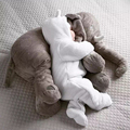 Creative Plush Toys Baby Adult Elephant Comfort Pillow A Cushion Undertakes Gift for Family Animal Infant Toys