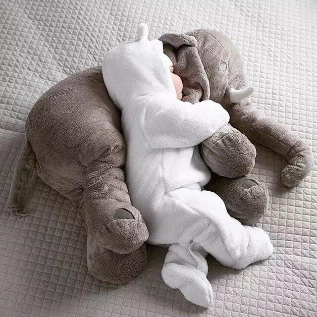 854a025bb Creativo de Juguetes de Peluche Bebé Elefante Adulto Comodidad Almohada  Cojín Regalo para La Familia Emprende