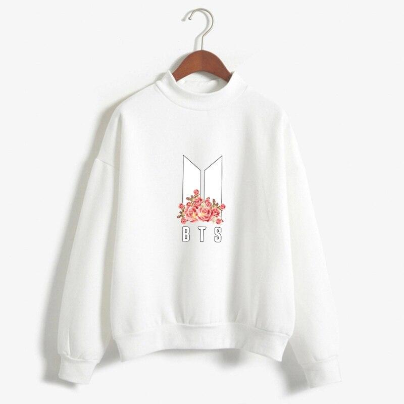 Dandeqi Kpop BTS Hoodies Frauen Bangtan Boys BTS Album Herbst Fleece Hoodie Winter Neue BTS Blume Drucken Moletom Drop Verschiffen