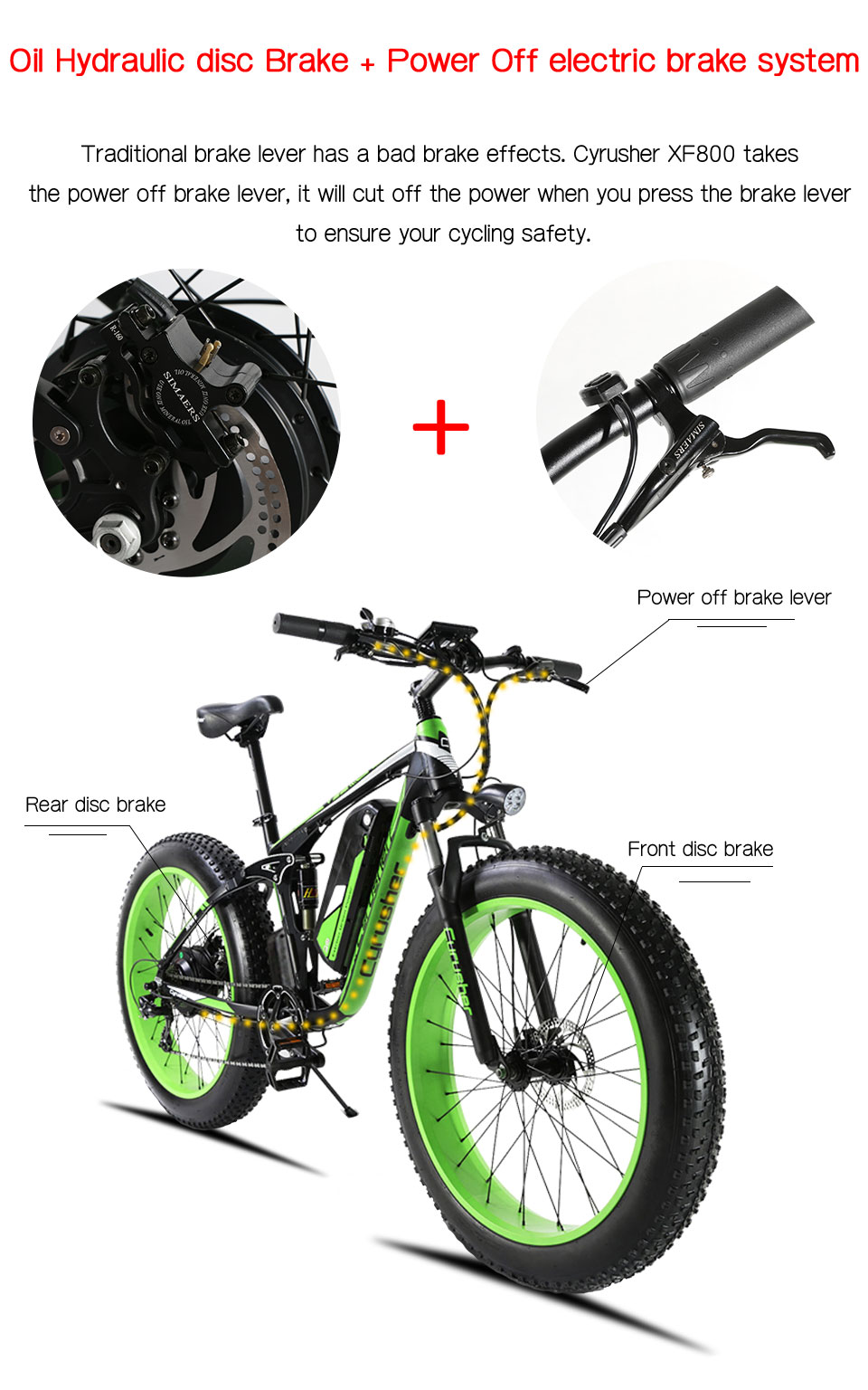 HTB1S7ZEMYrpK1RjSZTEq6AWAVXai - Cyrusher XF800 1000W 48V Electrical Bike Full Suspension body 7 Speeds widewheel highway Bike out of doors sensible speedometer Ebike