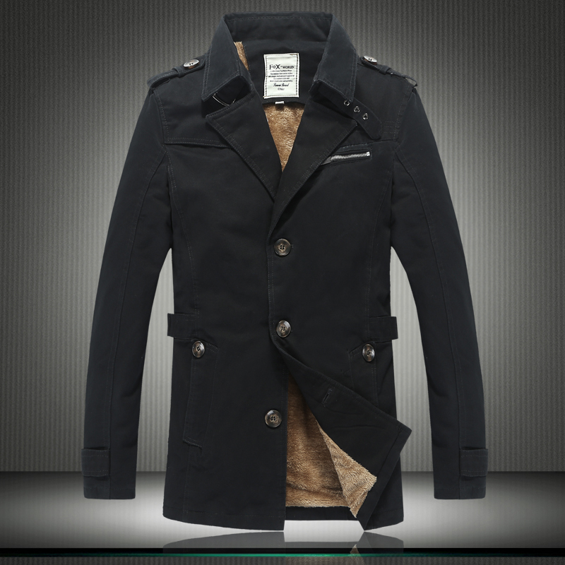 2015 New Thick Warm Long Winter Jackets Men Best Quality Wool ...