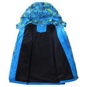 Image 5 - À prova dwaterproof água índice 10000mm à prova de vento impressão meninas meninos jaquetas quente criança casaco crianças outerwear crianças roupas para 120 170cm