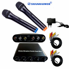 Advanced dynamic VHF 2-channel handheld smart Wireless microphone Sound Mixer combination CE ROHS certificate TV DVD connection(China)