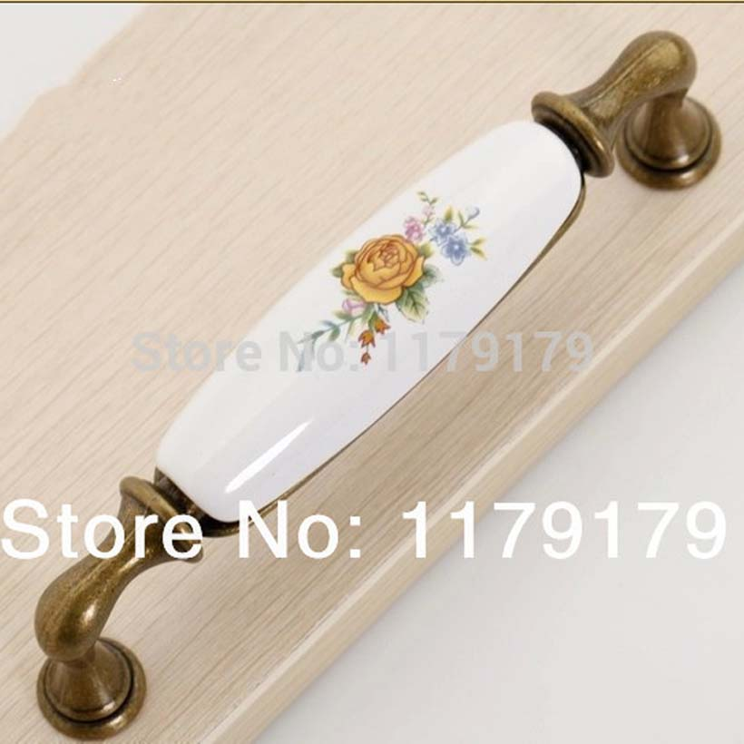 128mm rustico rural ceramic vintage furniture handle bronze kitchen cabinet drawer pull 5 antique brass dresser door handle european modern bronze doors handle chinese antique glass door handle door handle carving