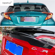 Lapetus Accessories For Toyota C-HR CHR 2016 2017 2018 2019 Tail Rear Window Spoiler Wing Protector Plate Molding Cover Kit Trim yimaautotrims new style for toyota c hr chr 2016 2017 2018 rear trunk spoiler tail upper bumper protector sticker cover trim